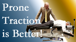 Fort Wayne spinal traction applied lying face down – prone – is best according to the latest research. Visit Aaron Chiropractic Clinic.