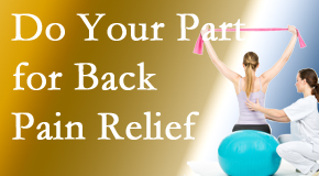 Aaron Chiropractic Clinic calls on back pain sufferers to participate in their own back pain relief recovery.