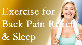 Aaron Chiropractic Clinic shares new research about the benefit of exercise for back pain relief and sleep.