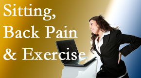 Aaron Chiropractic Clinic urges less sitting and more exercising to combat back pain and other pain issues.