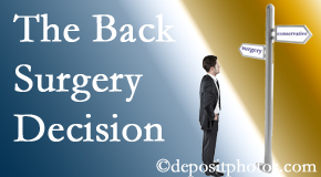 Fort Wayne back surgery for a disc herniation is an option to be carefully studied before a decision is made to proceed.