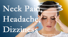 Aaron Chiropractic Clinic helps relieve neck pain and dizziness and related neck muscle issues.