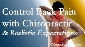Aaron Chiropractic Clinic helps patients set realistic goals and find some control of their back pain and neck pain so it doesn't necessarily control them.