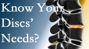 Your Fort Wayne chiropractor knows all about spinal discs and what they need nutritionally. Do you?