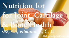 Aaron Chiropractic Clinic explains the benefits of vitamins A, C, and D as well as glucosamine and chondroitin sulfate for cartilage, joint and bone health.