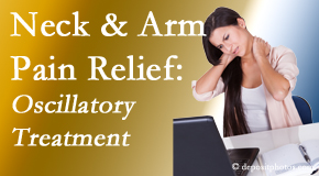 Aaron Chiropractic Clinic relieves neck pain and related arm pain by using gentle motion-based manipulation.