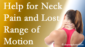 Aaron Chiropractic Clinic helps neck pain patients with limited spinal range of motion find relief of pain and restored motion.