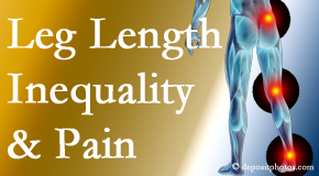 Aaron Chiropractic Clinic tests for leg length inequality as it is related to back, hip and knee pain issues.