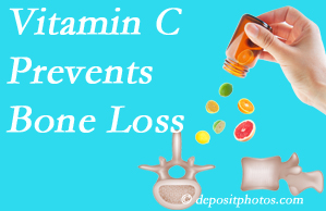 Aaron Chiropractic Clinic may recommend vitamin C to patients at risk of bone loss as it helps prevent bone loss.