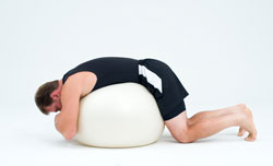 picture of ball exercise for lower back