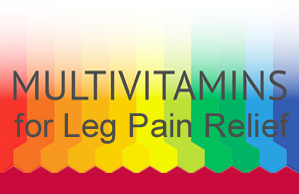 Multivitamin supplement enhances leg pain relief.