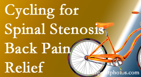 Aaron Chiropractic Clinic encourages exercise like cycling for back pain relief from lumbar spine stenosis.