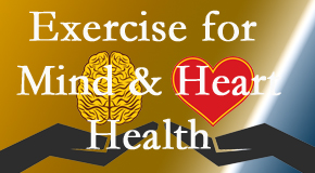 A healthy heart helps maintain a healthy mind, so Aaron Chiropractic Clinic encourages exercise.