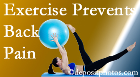 Aaron Chiropractic Clinic suggests Fort Wayne back pain prevention with exercise.