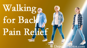 Aaron Chiropractic Clinic often recommends walking for Fort Wayne back pain sufferers.