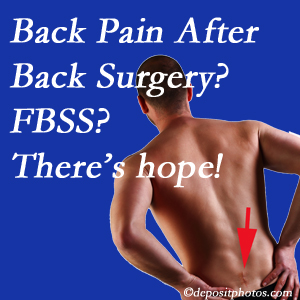 Fort Wayne chiropractic care offers a treatment plan for relieving post-back surgery continued pain (FBSS or failed back surgery syndrome).