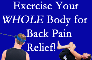 Fort Wayne chiropractic care includes exercise to help enhance back pain relief at Aaron Chiropractic Clinic.