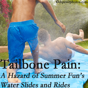 Aaron Chiropractic Clinic offers chiropractic manipulation to ease tailbone pain after a Fort Wayne water ride or water slide injury to the coccyx.