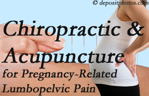 Fort Wayne chiropractic and acupuncture may help pregnancy-related back pain and lumbopelvic pain.