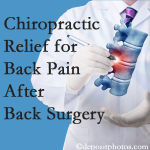 Aaron Chiropractic Clinic offers back pain relief to patients who have already undergone back surgery and still have pain.