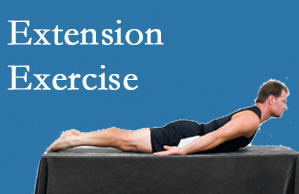 Aaron Chiropractic Clinic recommends extensor strengthening exercises when back pain patients are ready for them.