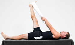 hamstring with towel