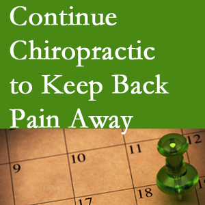 Continued Fort Wayne chiropractic care fosters back pain relief.