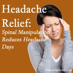 Fort Wayne chiropractic care at Aaron Chiropractic Clinic may reduce headache days each month.