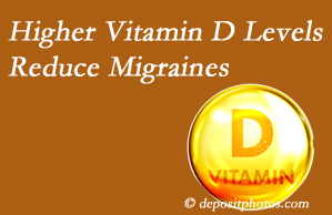 Aaron Chiropractic Clinic shares a new report that higher Vitamin D levels may reduce migraine headache incidence.
